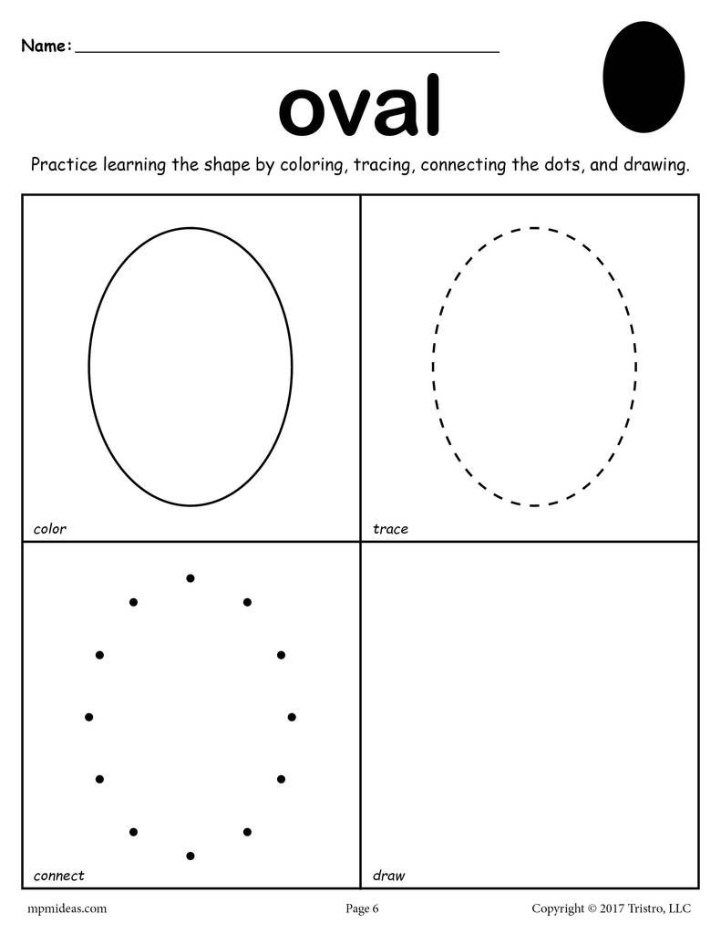 Color by Shapes Worksheets