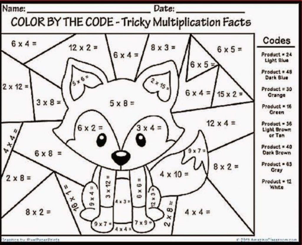 Coloring Worksheets for 4th Grade