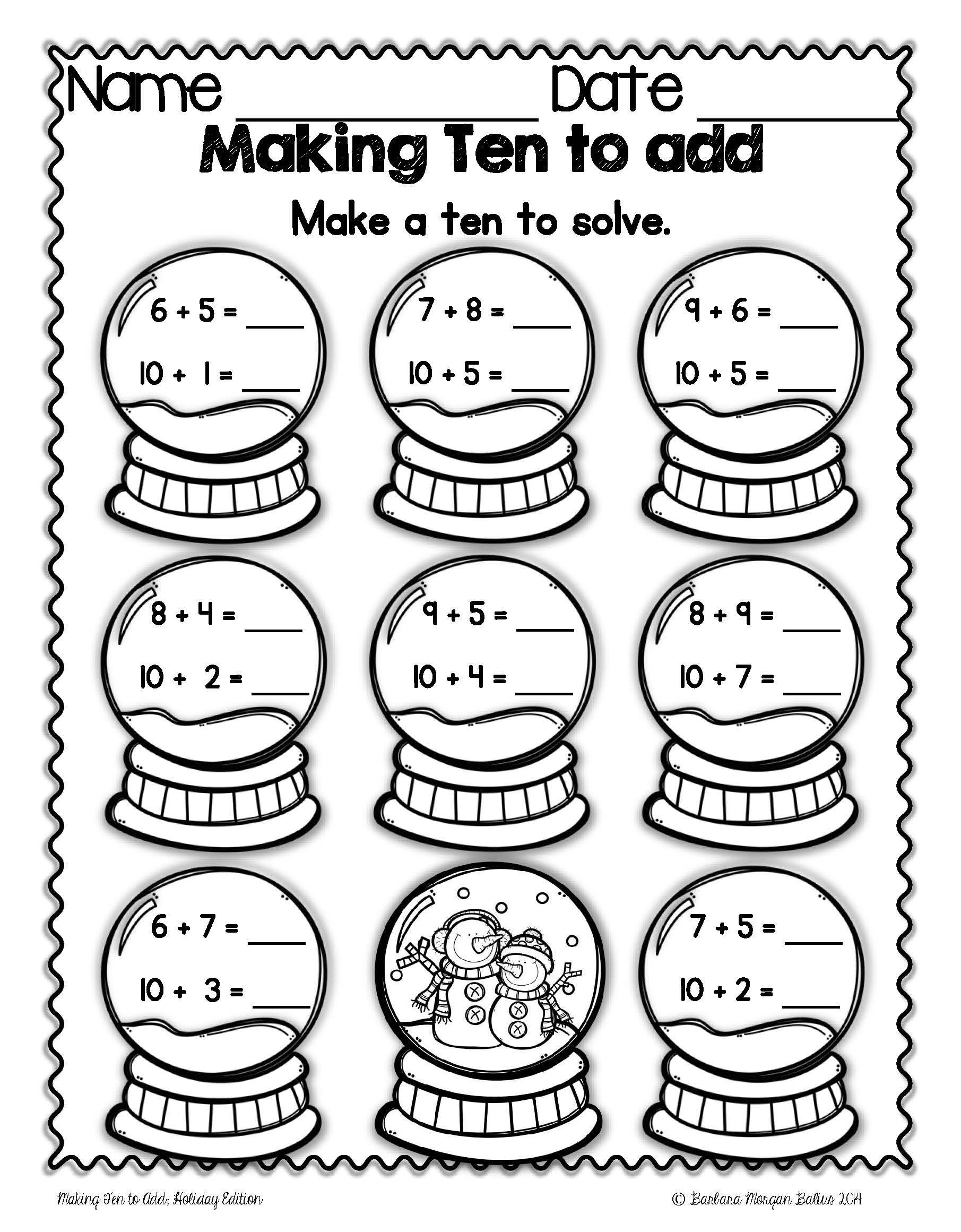 Comparing Numbers Worksheets First Grade