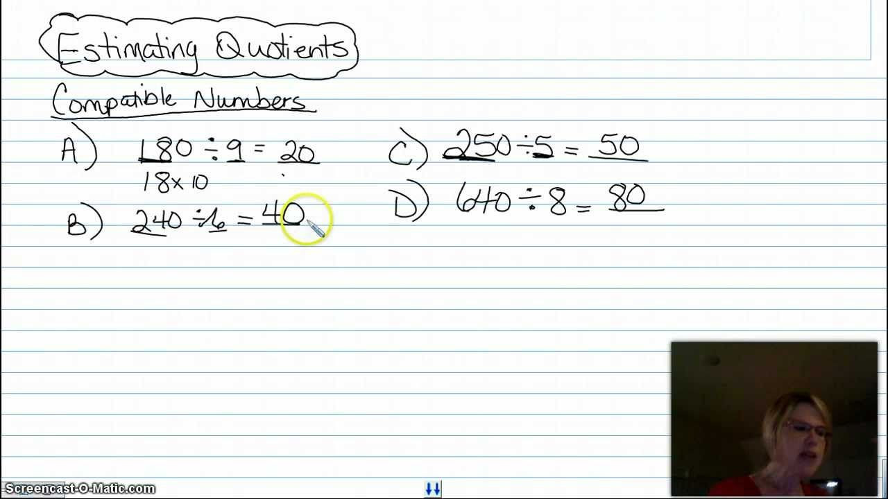 Compatible Numbers In Division Worksheets