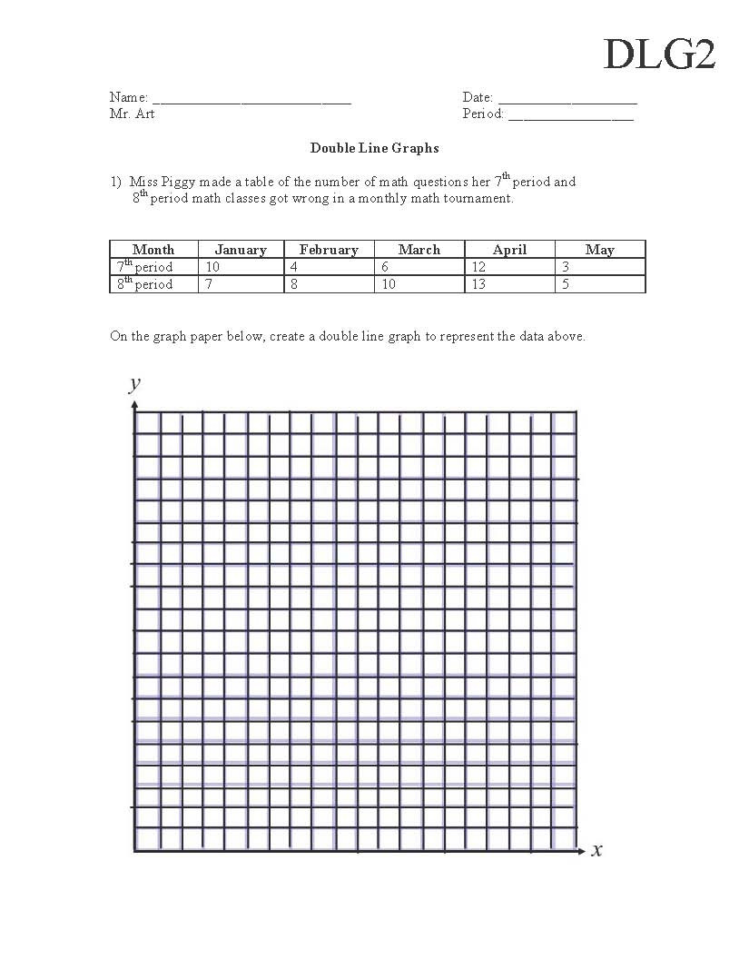 Semi Truck School Graphing Worksheets Middle Science Data