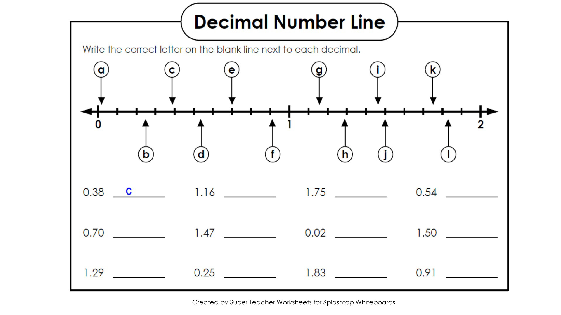 Decimals A Numberline Lessons Tes Teach