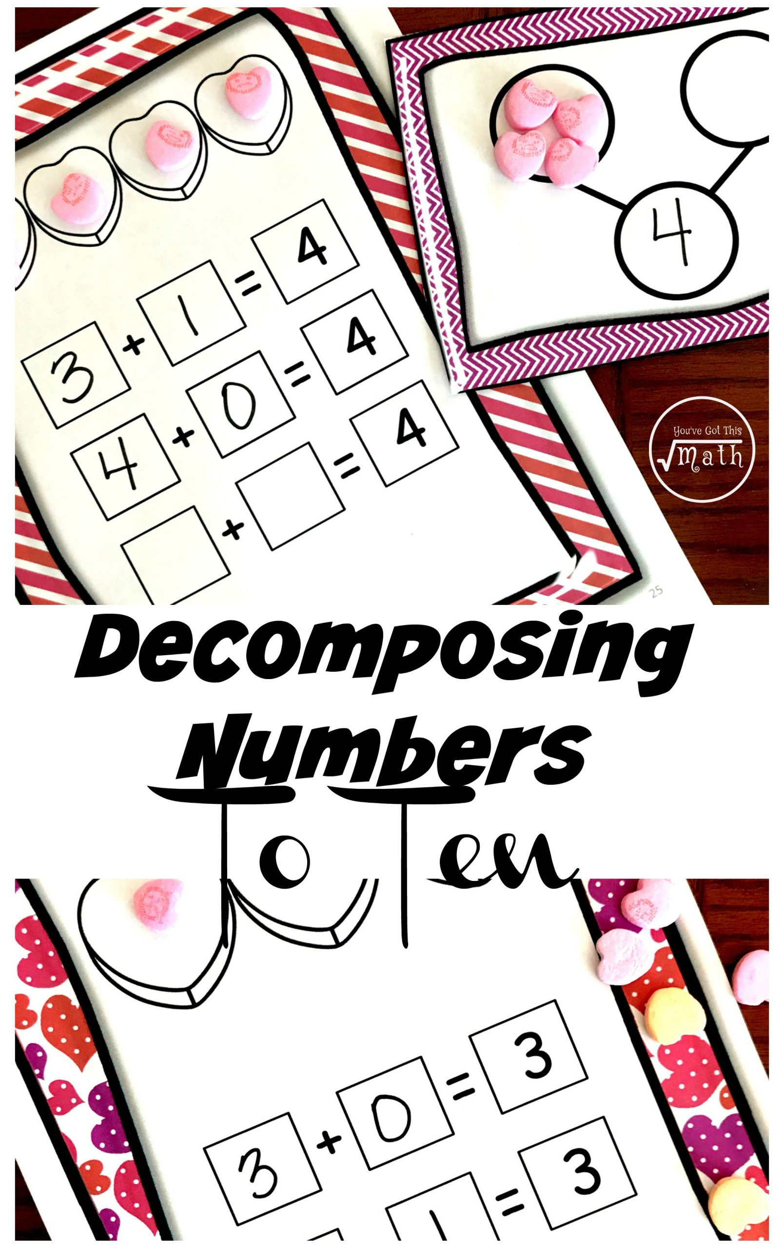 Decomposing Numbers to 10 Worksheets