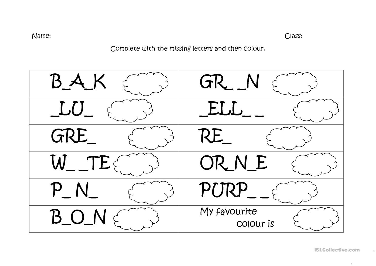 I Know My Colors Worksheet