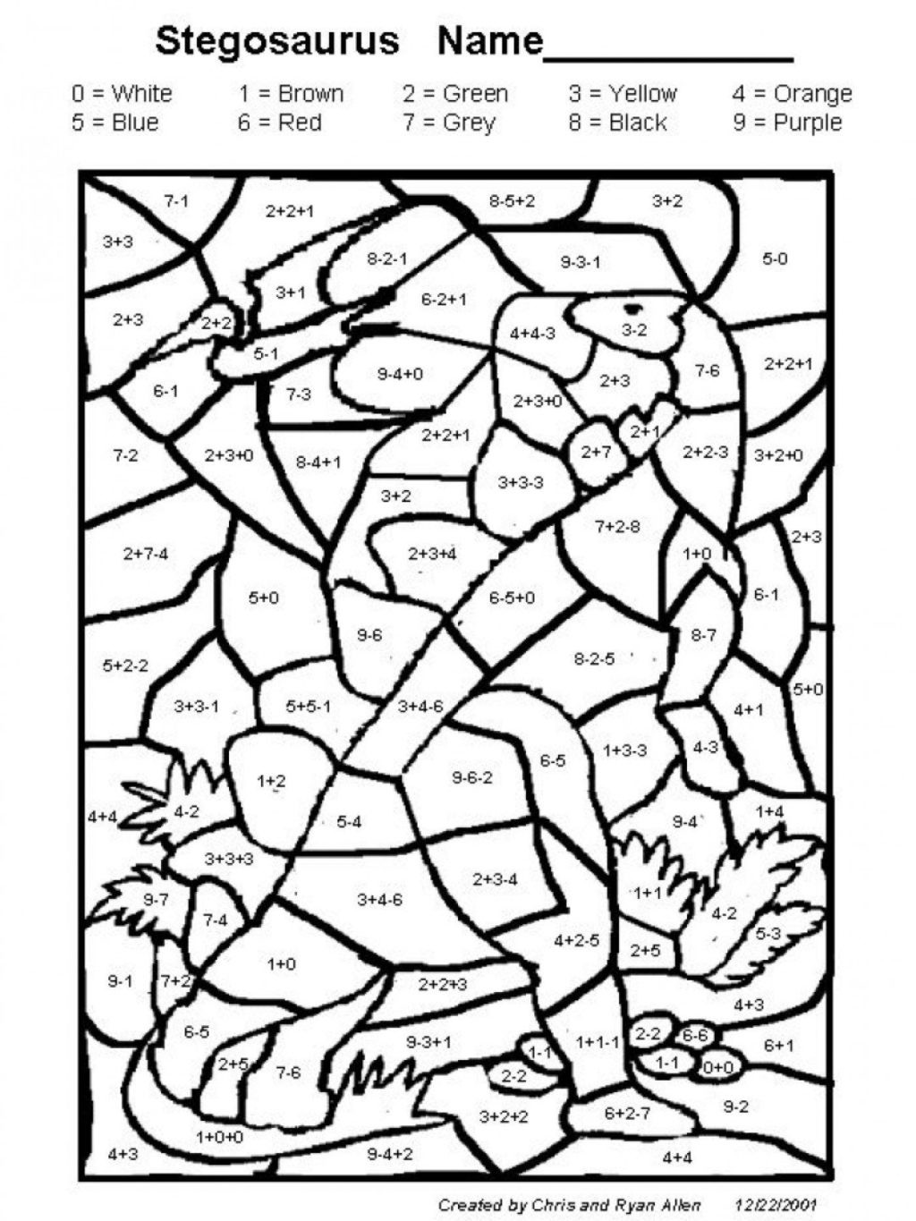 Middle School Math Coloring Worksheets