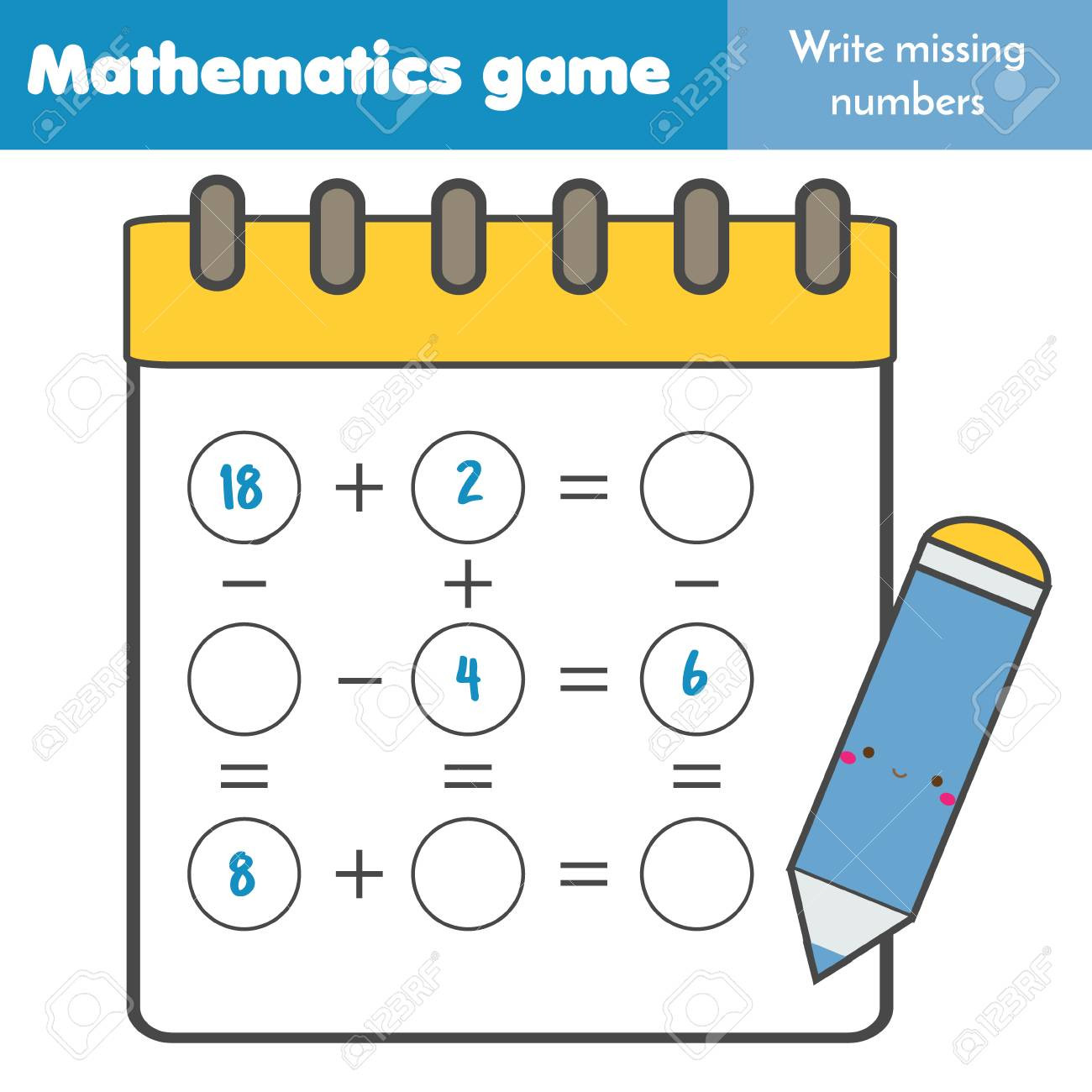 Missing Numbers In Equations Worksheets