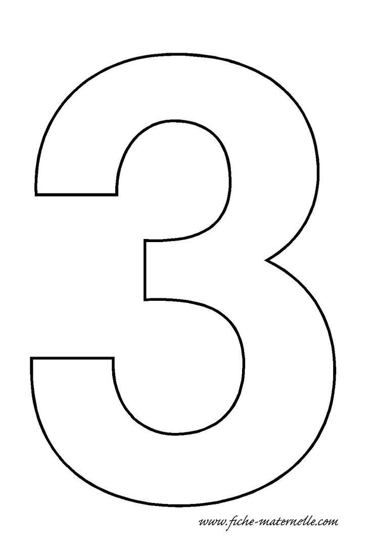 Number 3 Worksheets for toddlers