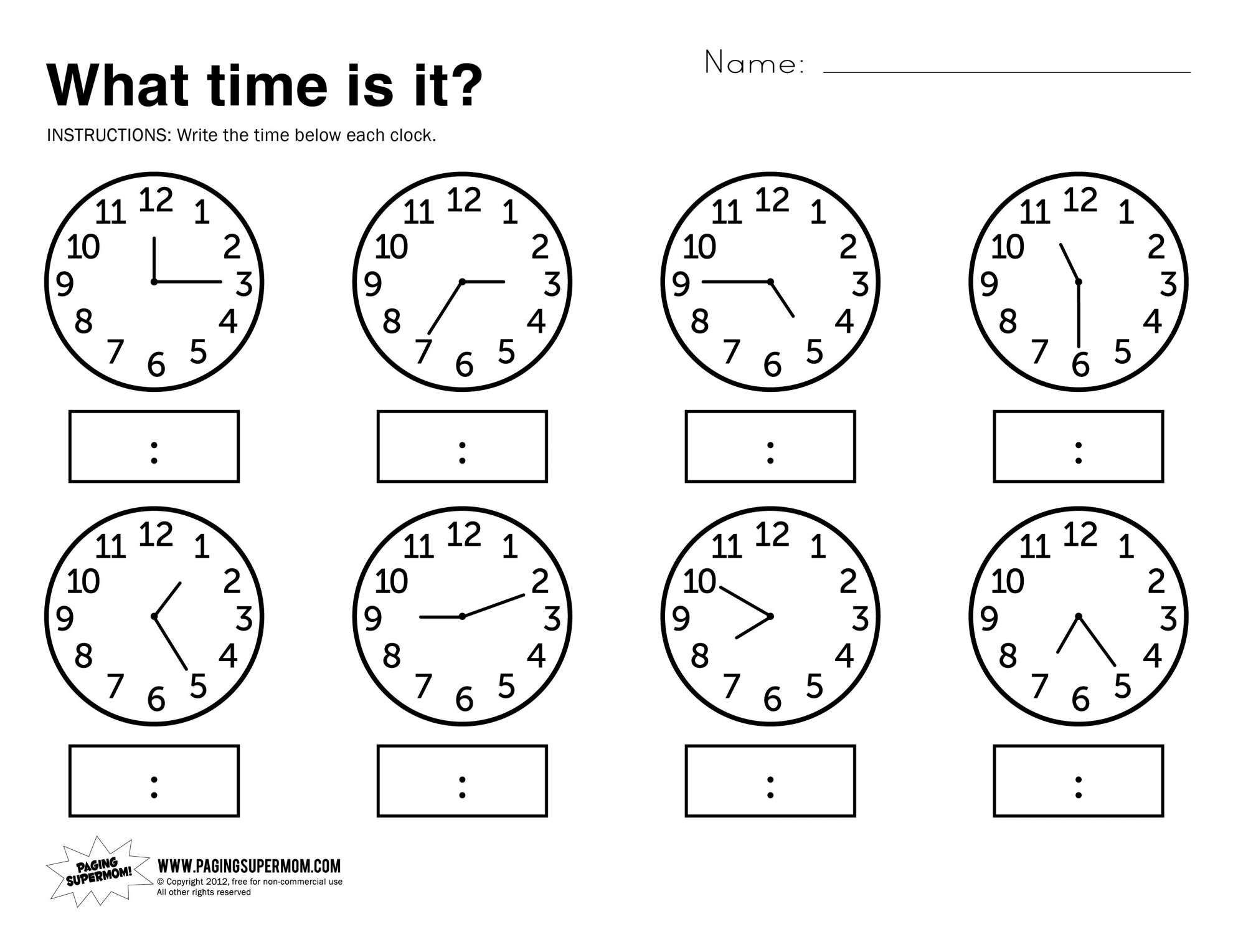 Number and Quantity Worksheets