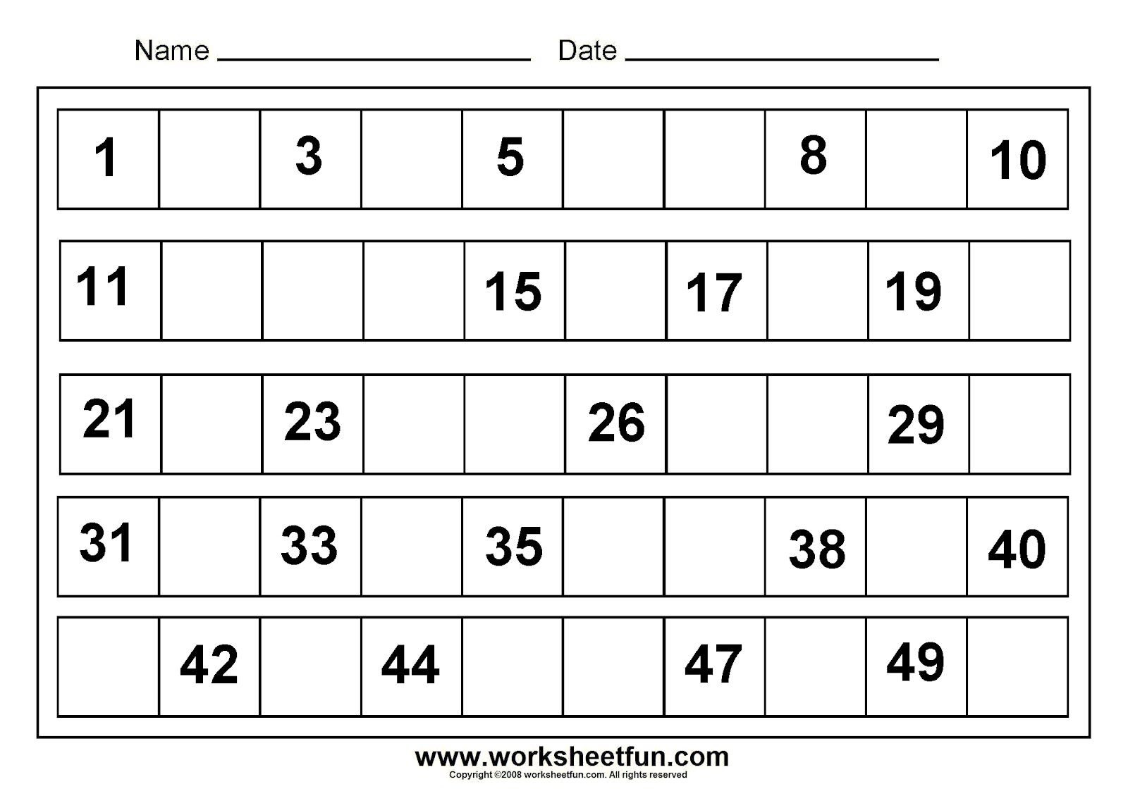writing number 1 50 tracing numbers 1 50 worksheets