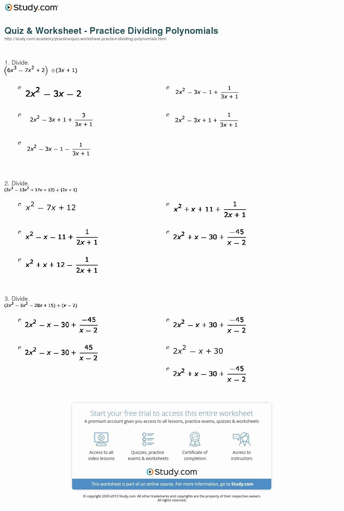 Operations with Real Numbers Worksheet