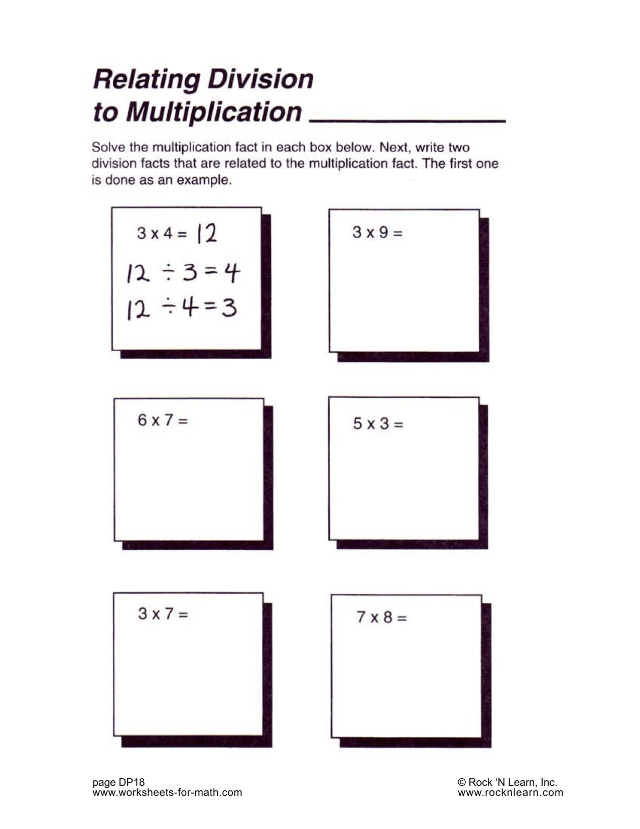 Solve the multiplication fact in each box Next write 2