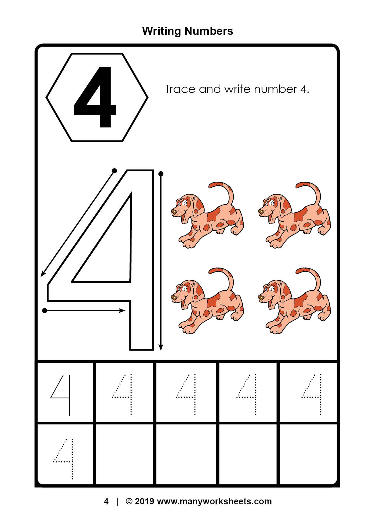 Trace the Number Worksheets