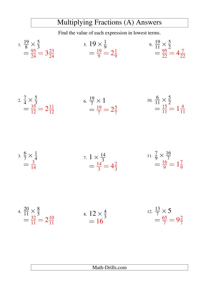 Multiplying and Simplifying Fractions with Some Whole