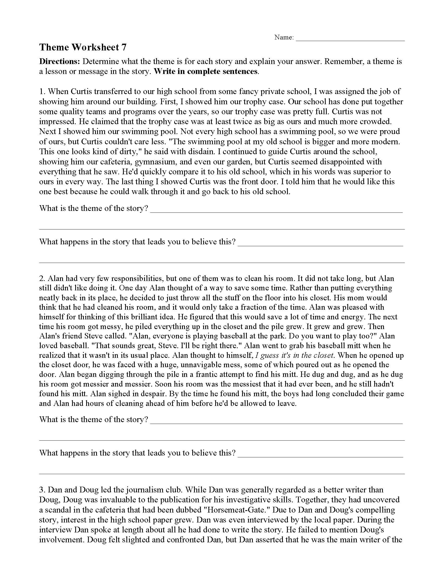 Allusion Worksheet for Middle School