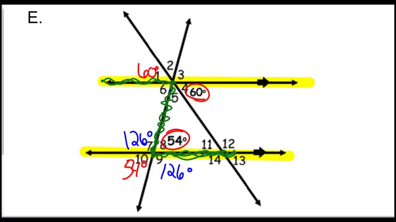 3 2 Angle Puzzles Parallel Lines Worksheet 1