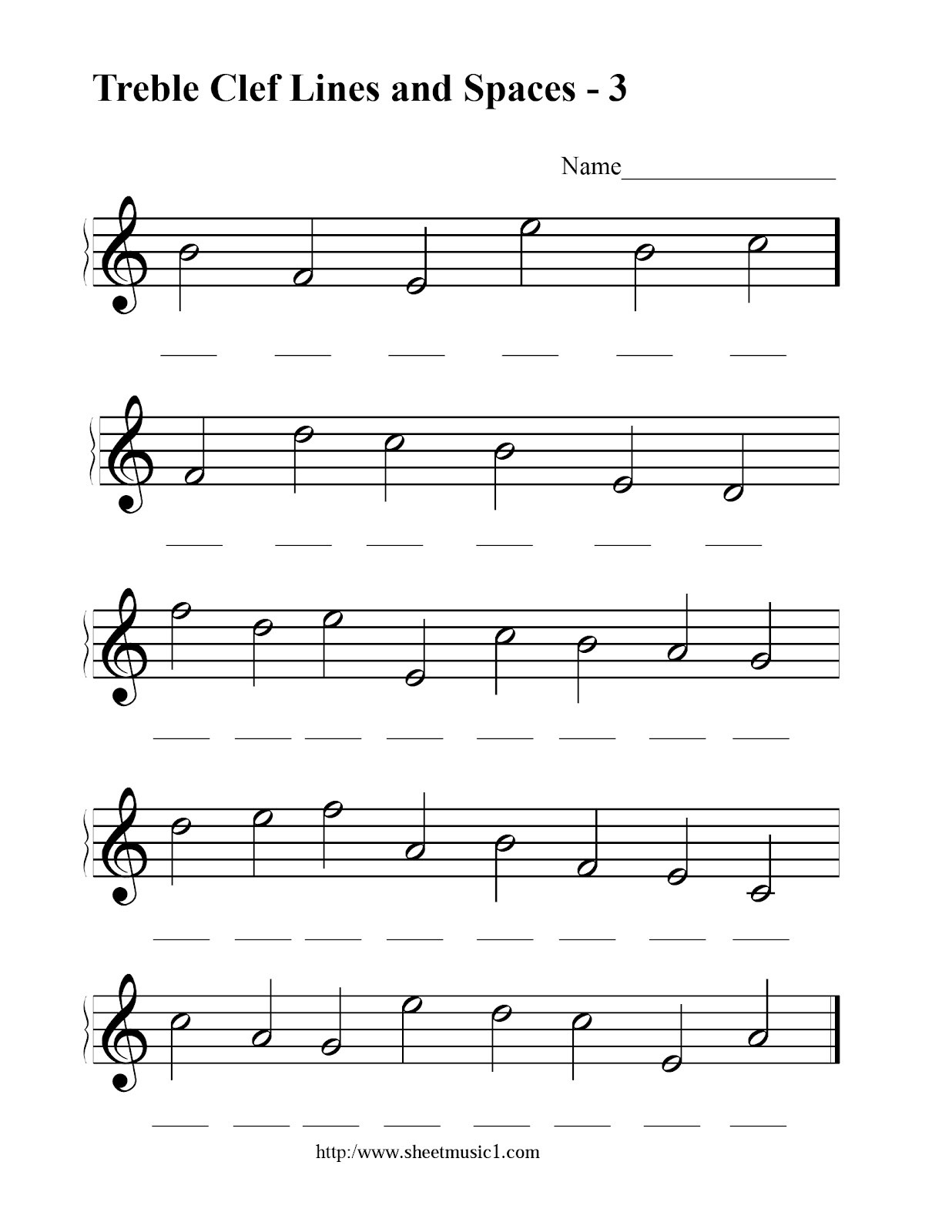 Bass Clef Note Reading Worksheet  Theme Library For Treble Clef Notes Worksheet