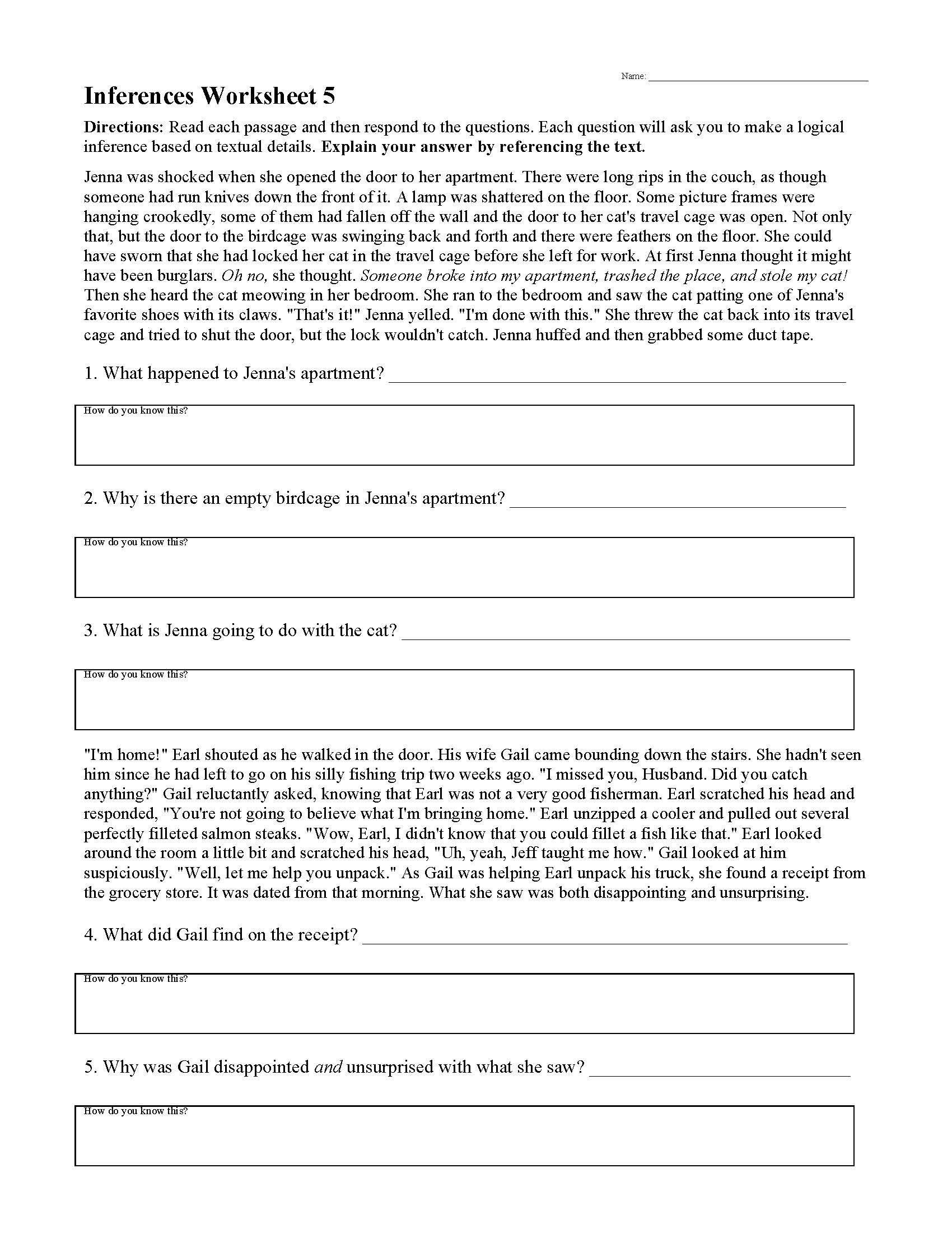 Citing sources Worksheet 5th Grade