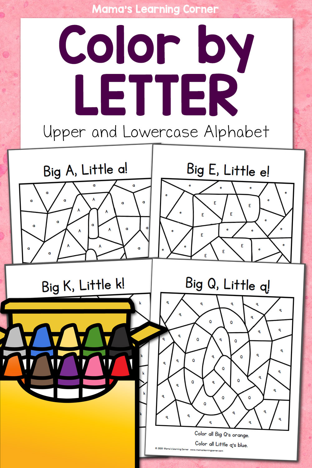 Color by Letter Worksheets Free