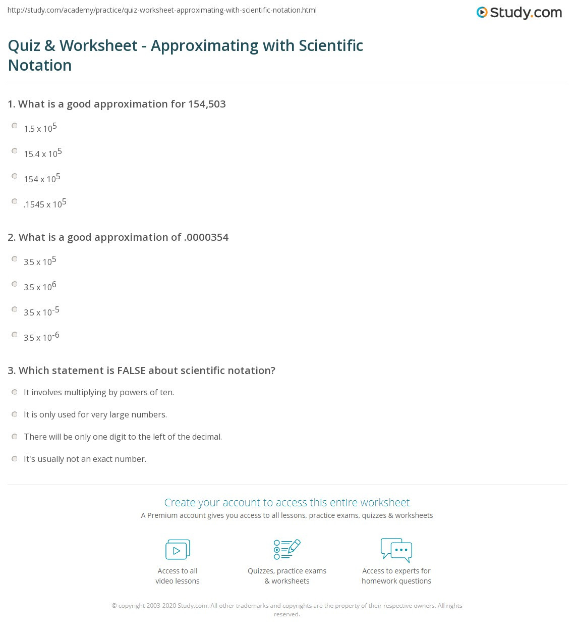 Compute with Scientific Notation Worksheet
