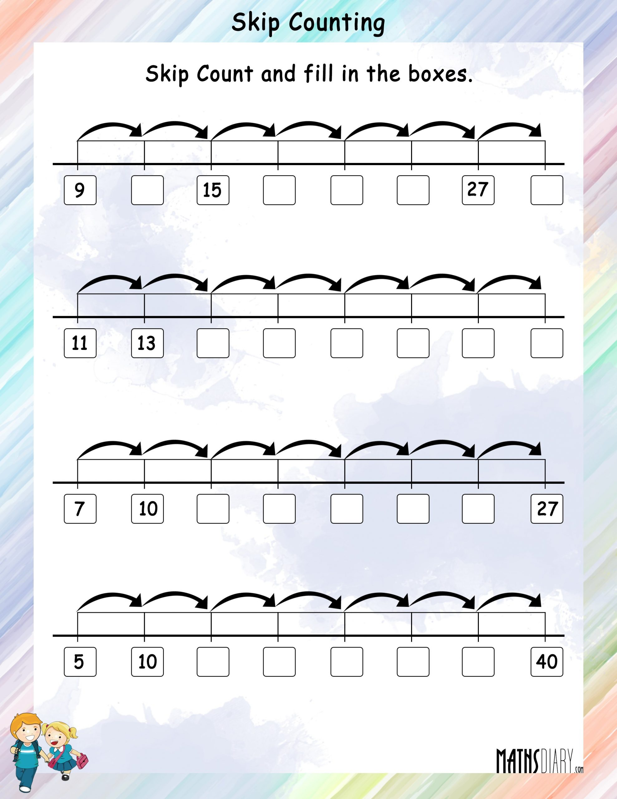 Count by 10 Worksheet