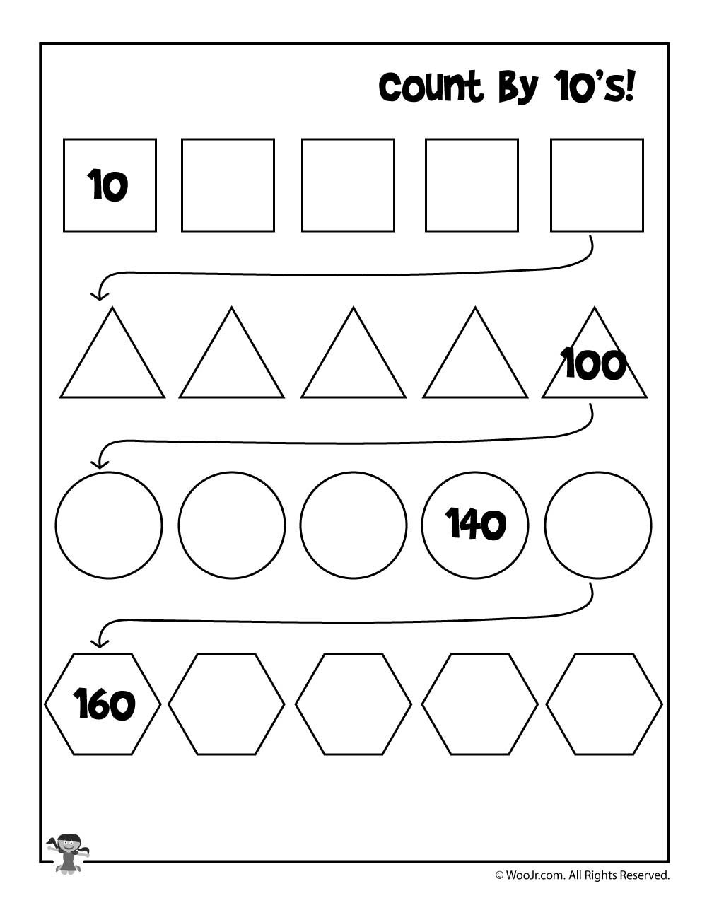 Count by 10 s Worksheet