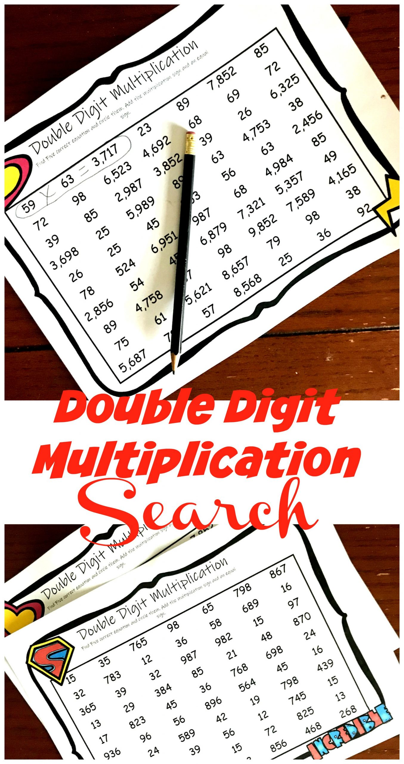 Double Digit Multiplication Coloring Worksheets