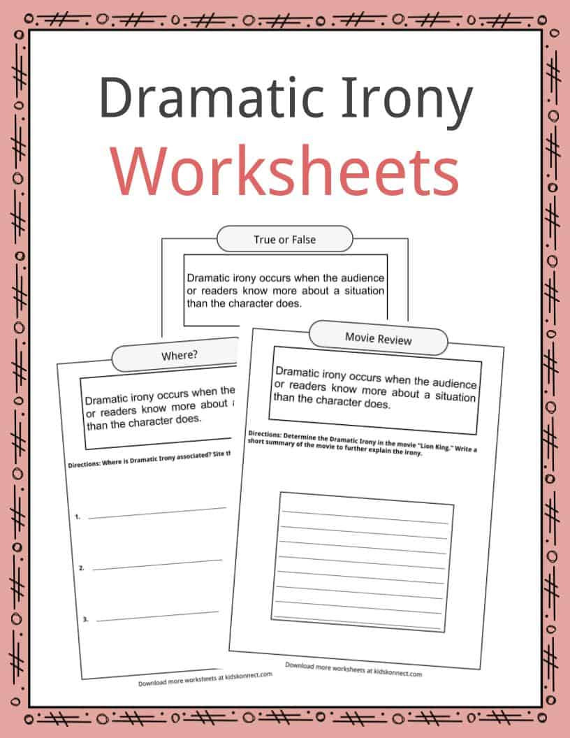 Drama Worksheets for Middle School