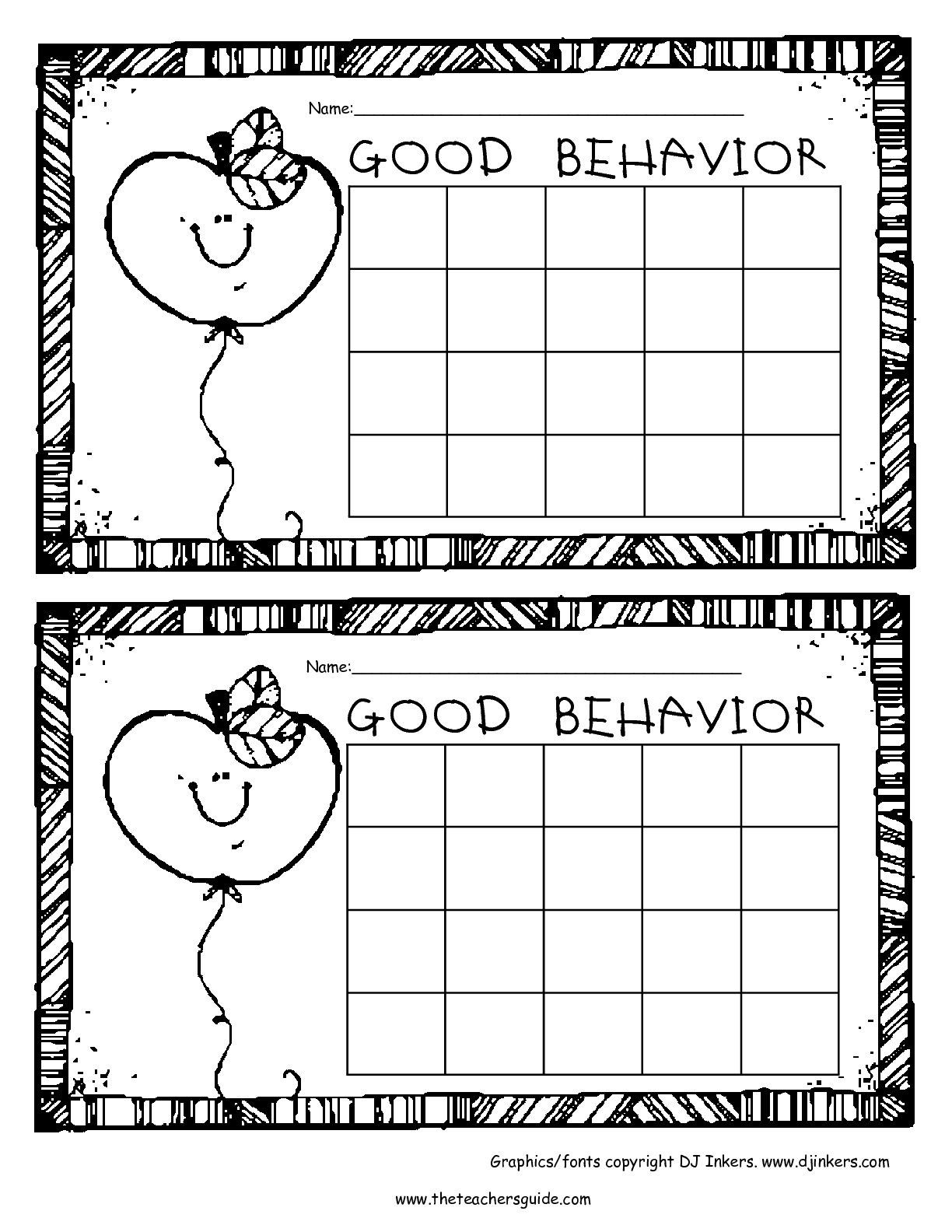 Expected and Unexpected Behaviors Worksheet