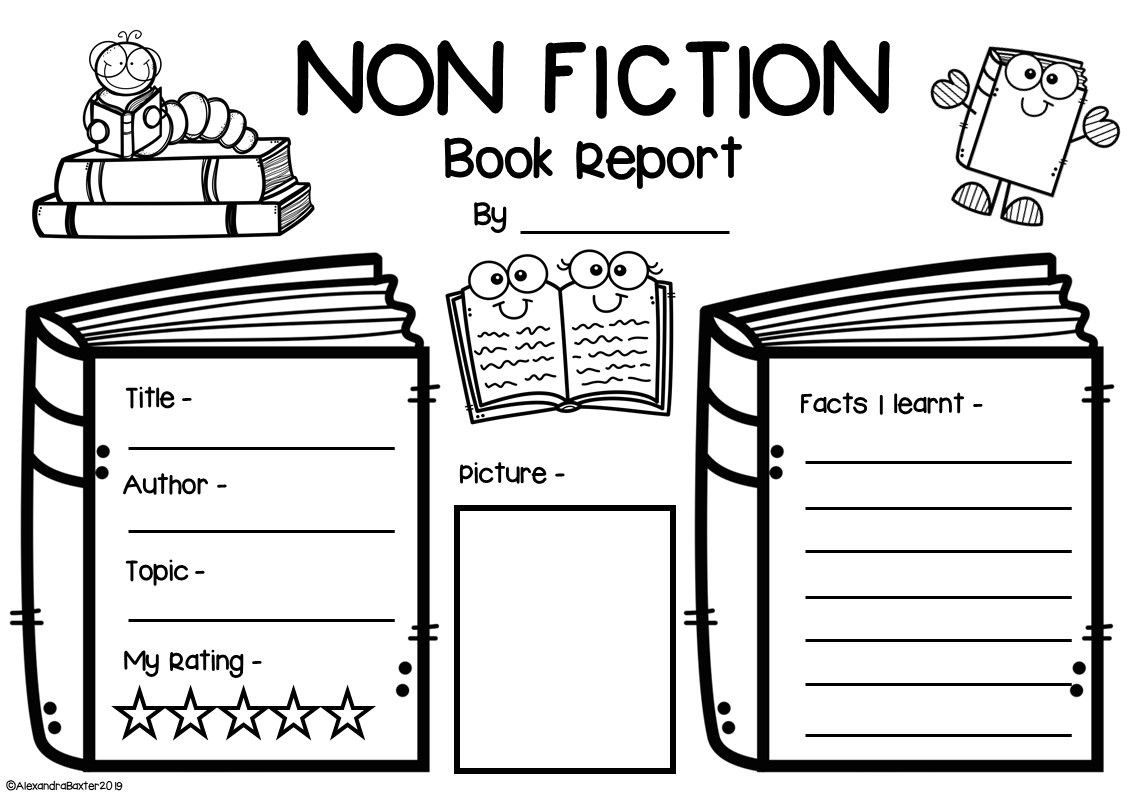 Non Fiction Book Report Worksheets and Graphic Organizers