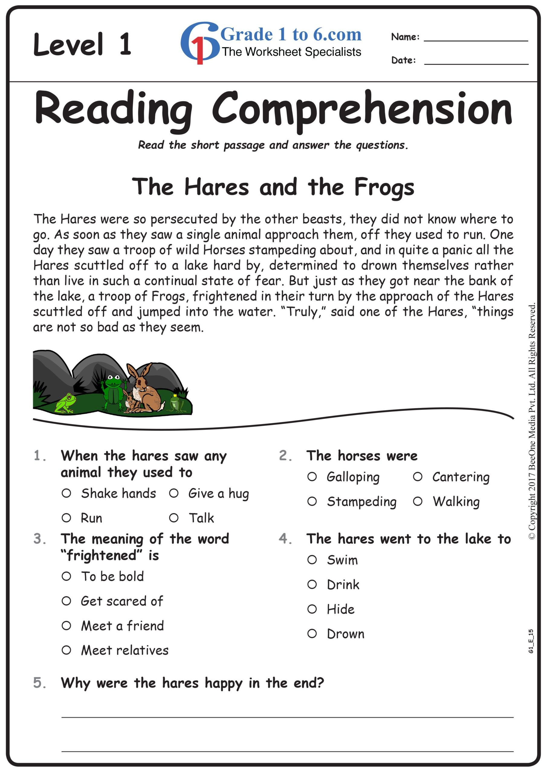 French Reading Comprehension Worksheets