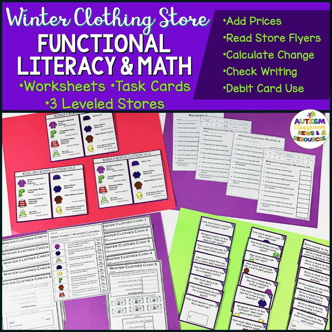 Functional Math Worksheets Special Education