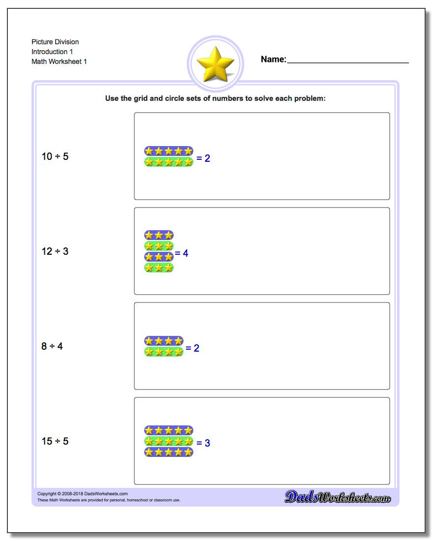 Introduction to Division Worksheets