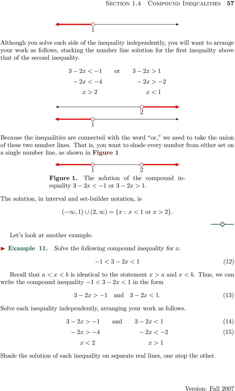 Introduction to Inequalities Worksheet