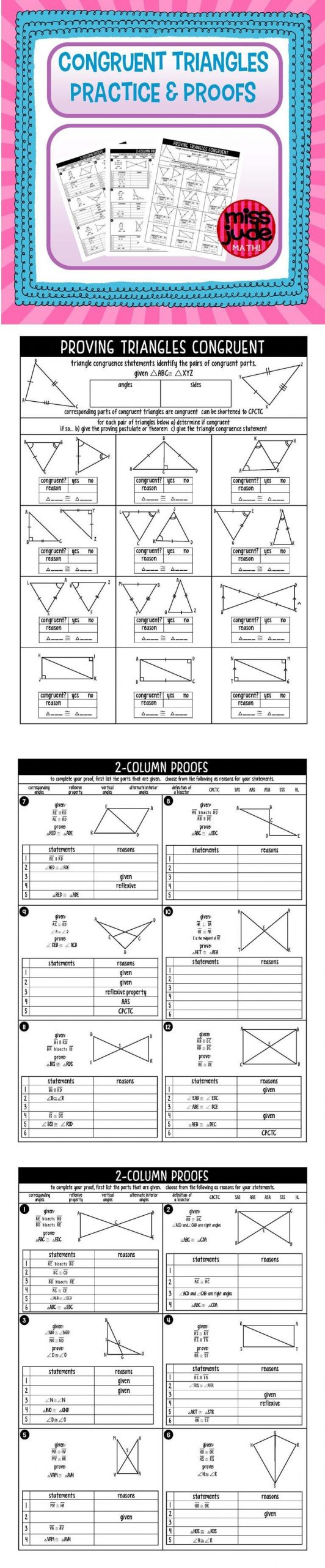 Introduction to Proofs Worksheet Answers
