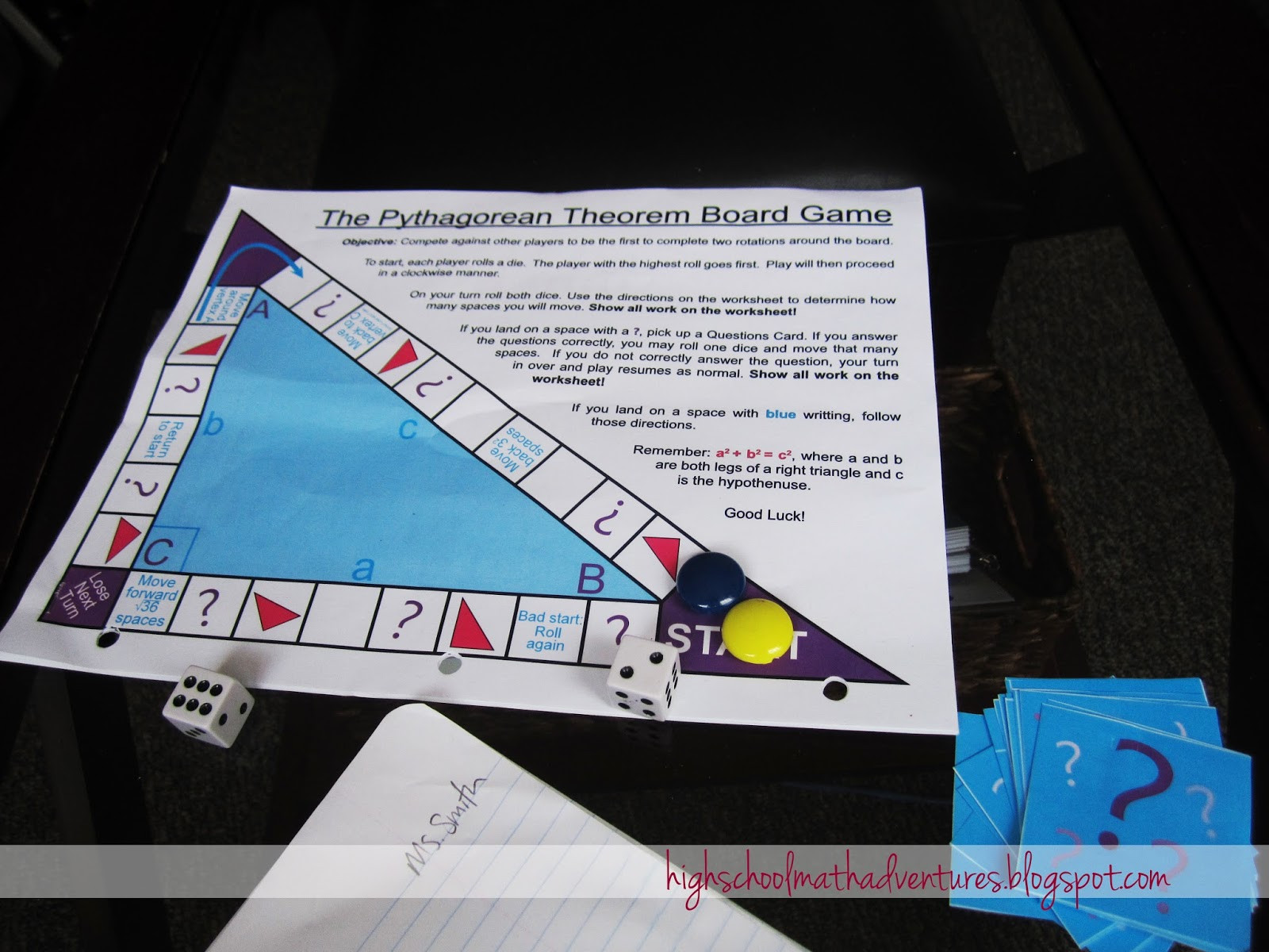 Introduction to Pythagorean theorem Worksheet