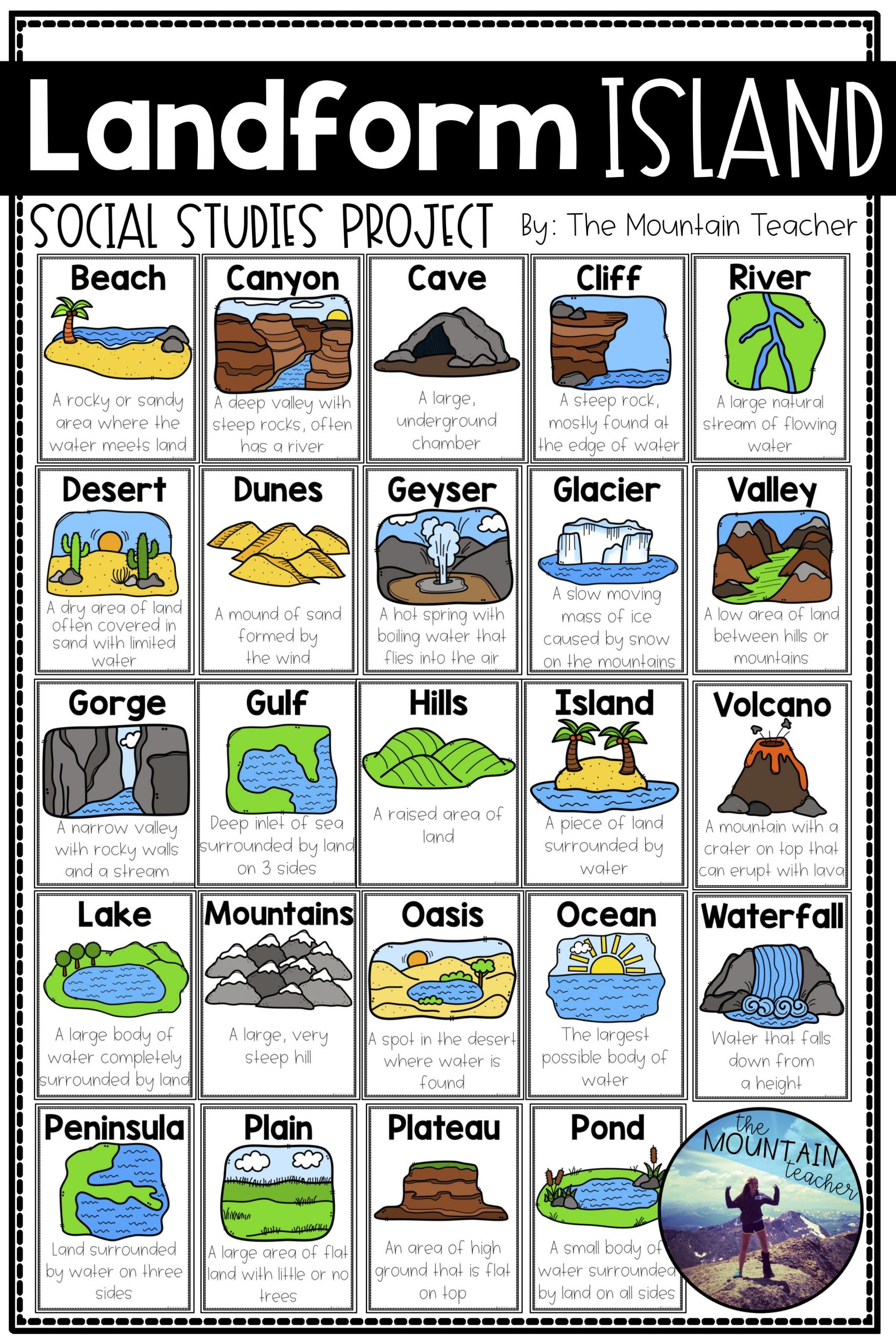 Engage your students in learning about landforms by having