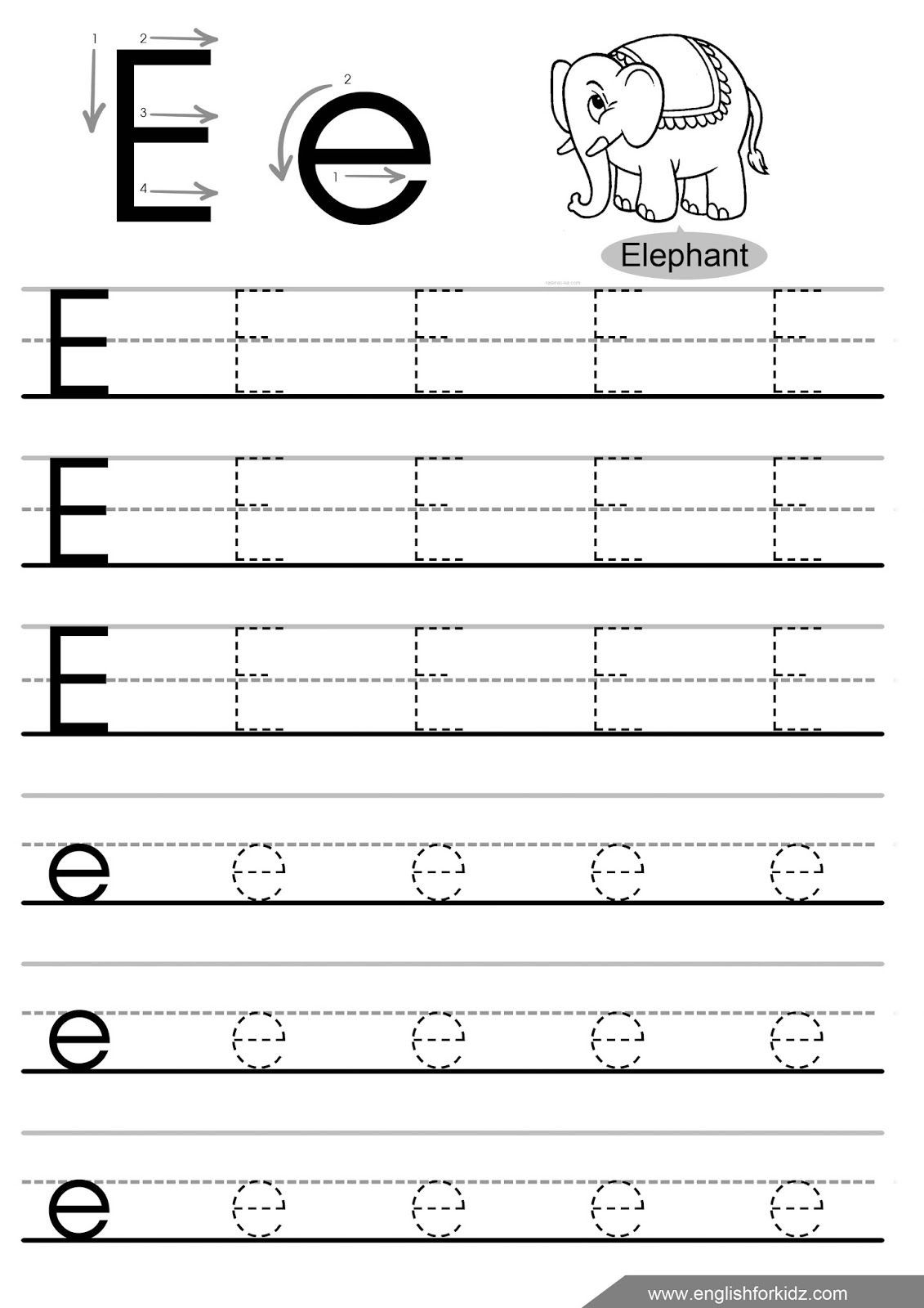 letter tracing worksheets letters a j