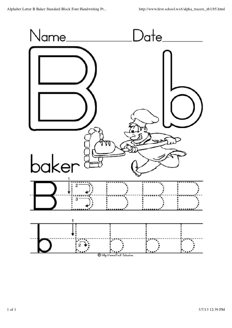 Letters A and B Worksheets