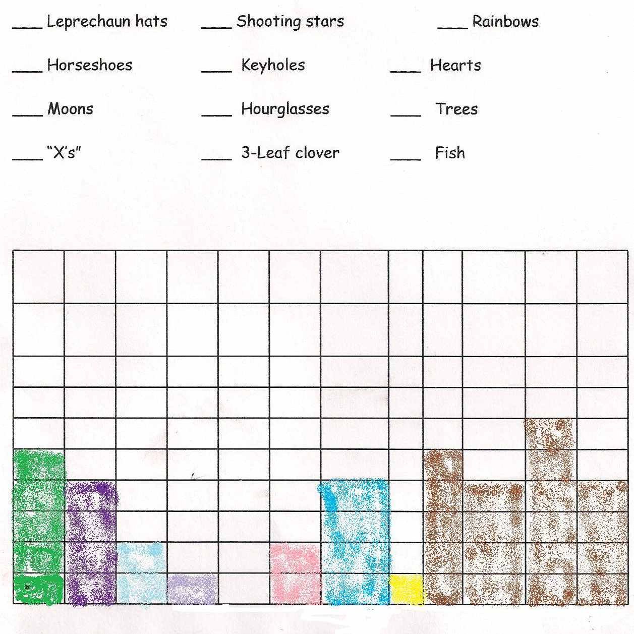 Lucky Charm Graphing Worksheet