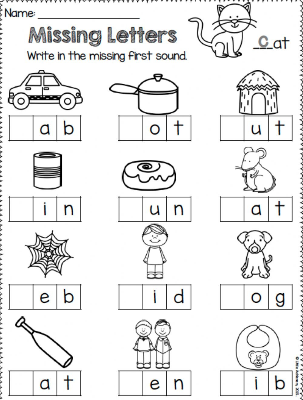 Missing Letters activity