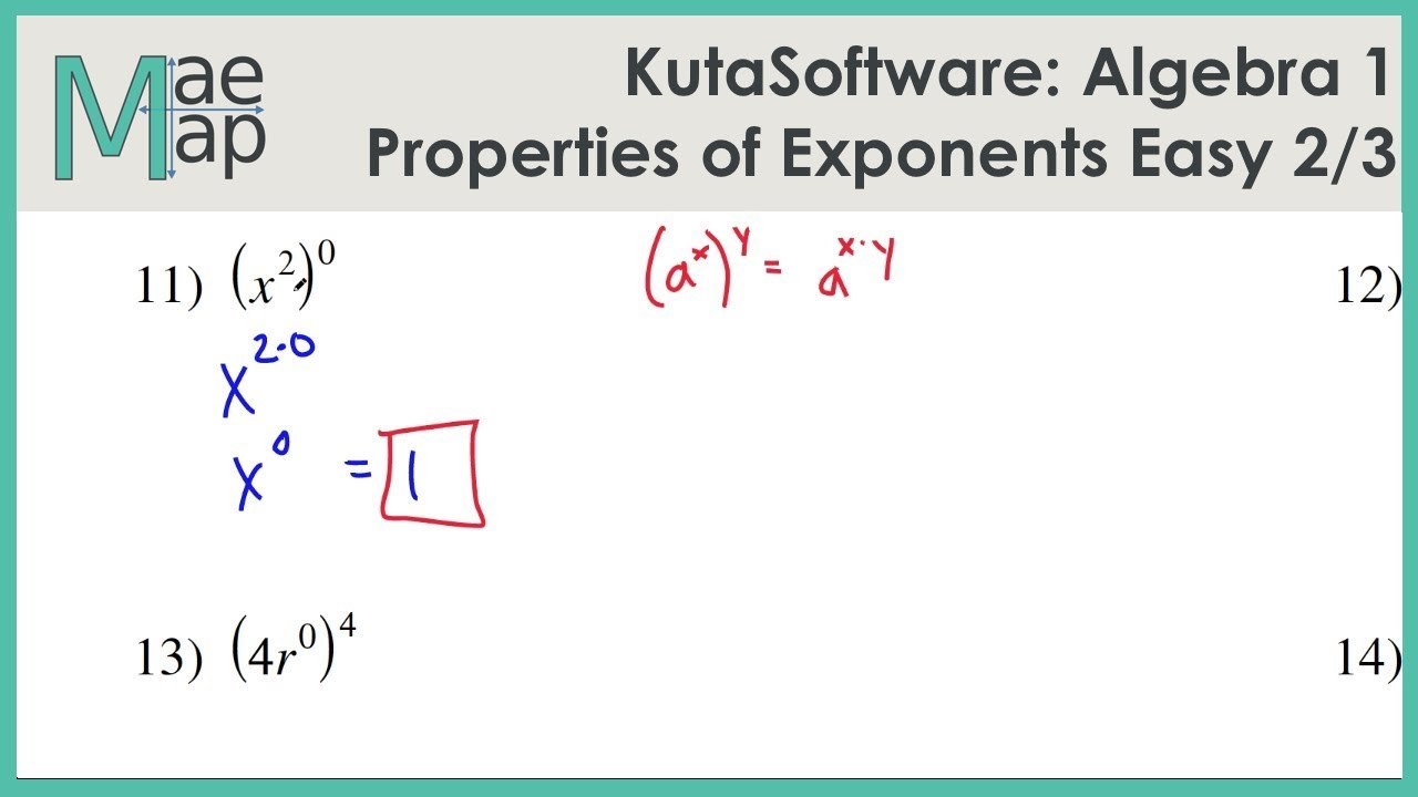 Multiplying Variables with Exponents Worksheet
