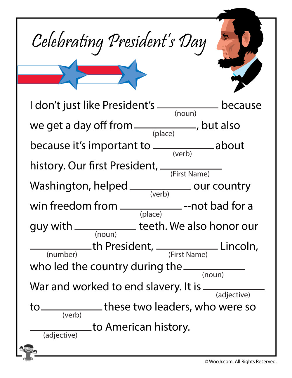 Presidents Day Math Worksheets