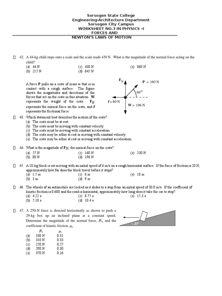 Reading A Spring Scale Worksheet