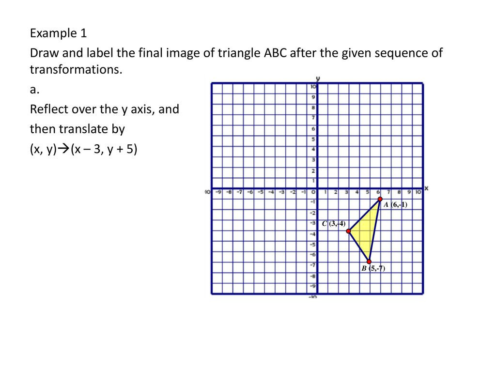 Sequences Of Transformations Worksheet