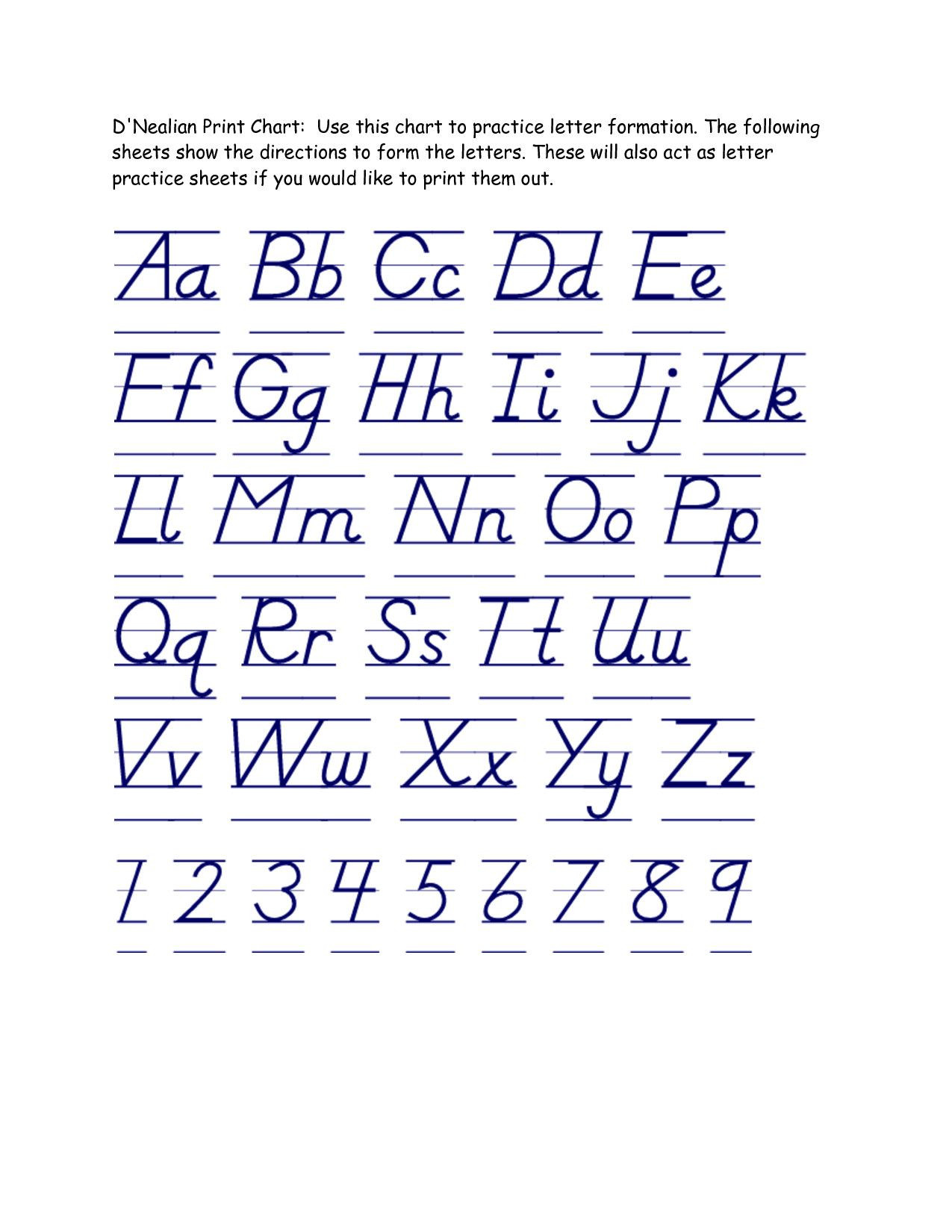 Sloping Letters Worksheet Answers