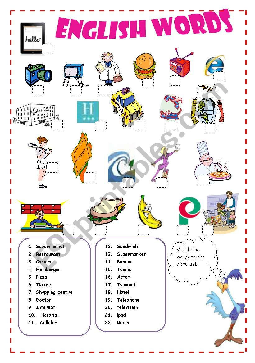 Vocabulary English Spanish Cognates ESL worksheet by Pacchy