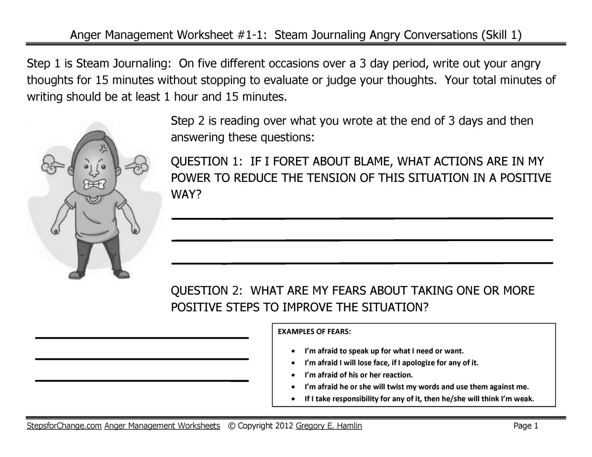 Taking Responsibility for Actions Worksheet