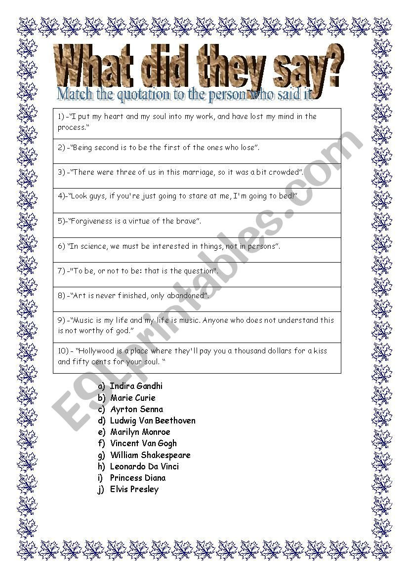 What did they say ESL worksheet by lumetivier