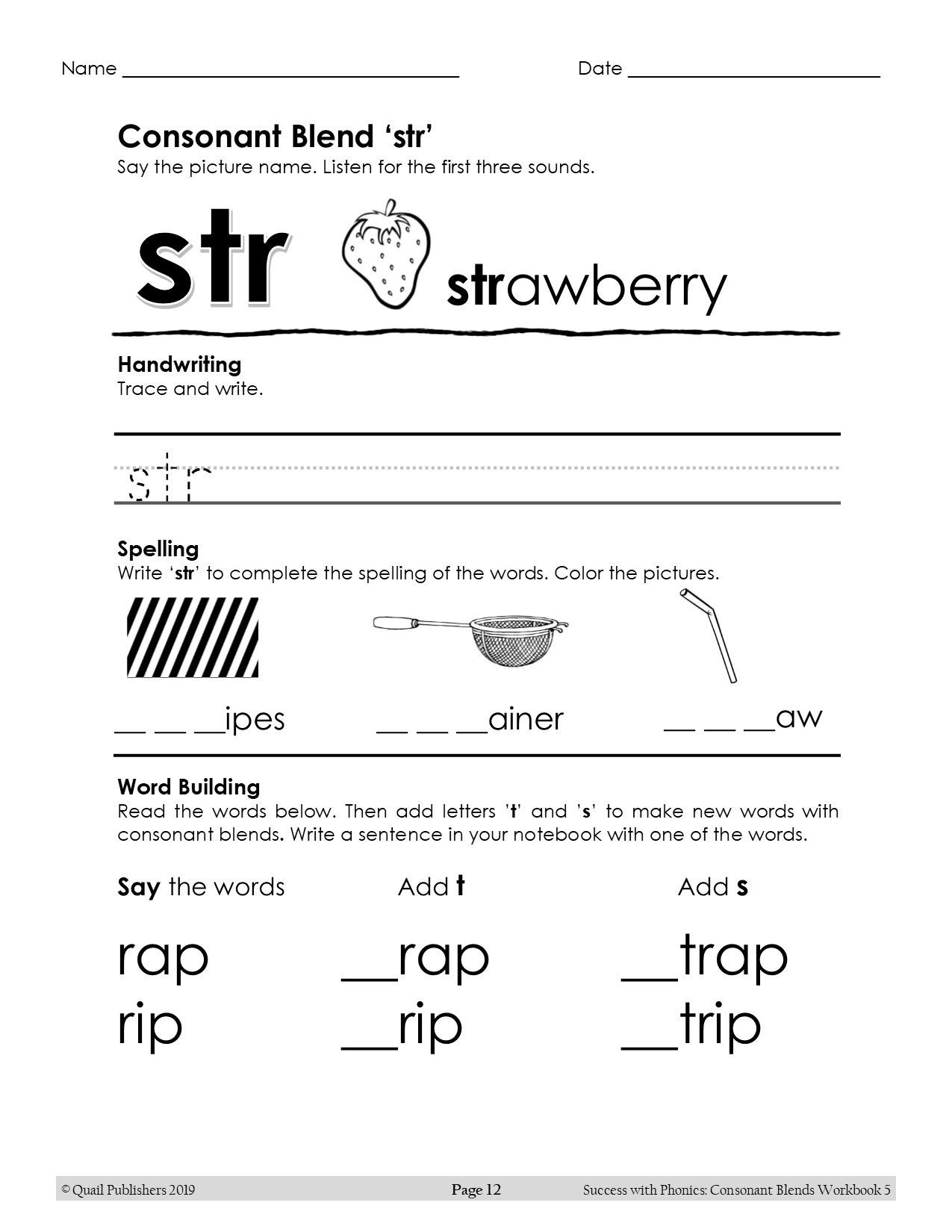 Learn the 3 letter consonant blend str and more in the