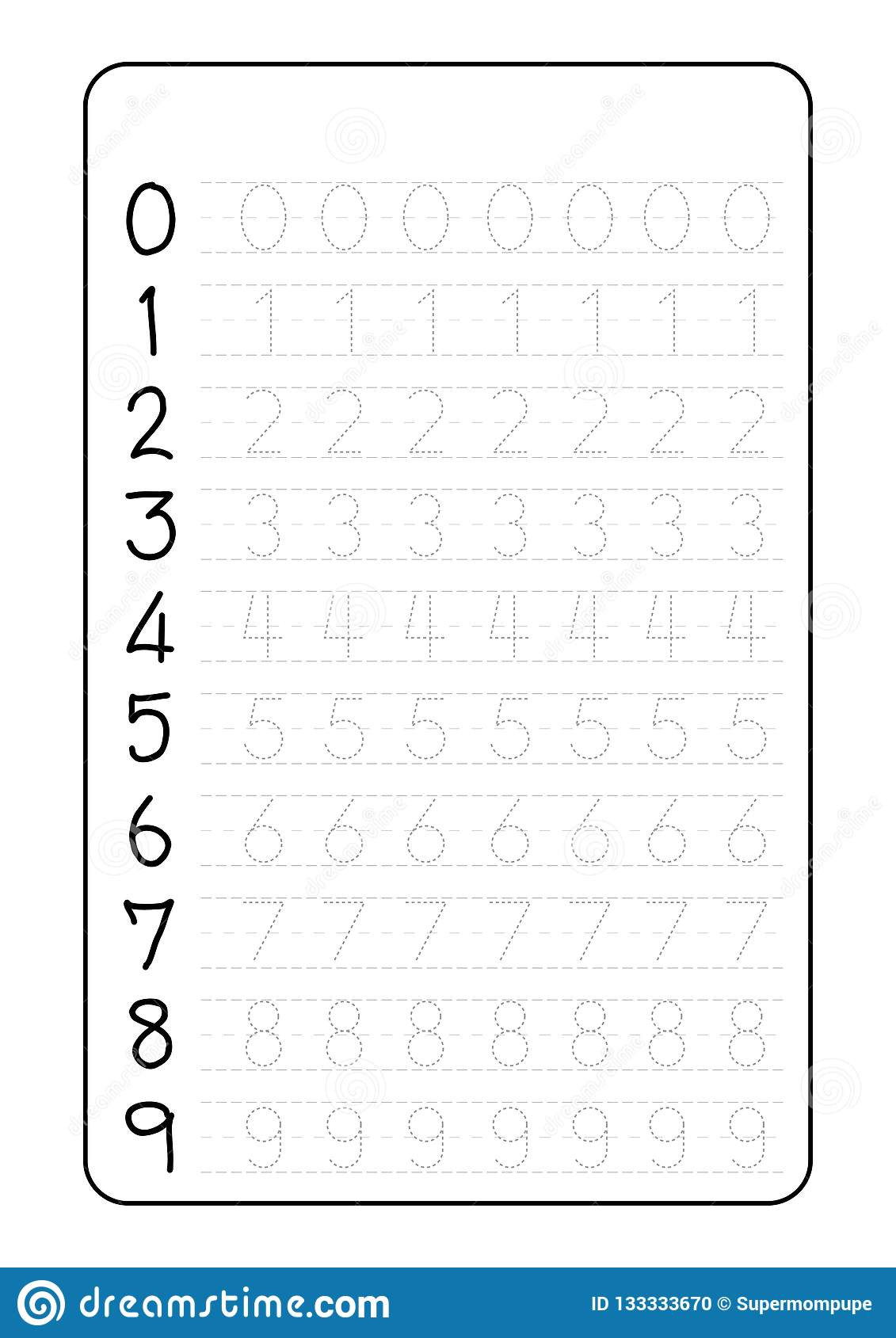 Tracing Letters and Numbers Worksheets